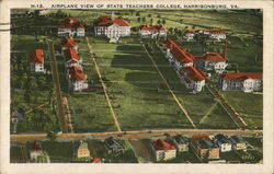 State Teachers College - Aerial View Postcard