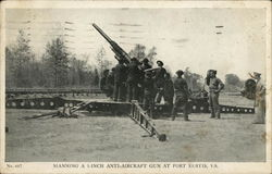 Manning a 3-Inch Anti-Aircraft Gun at Fort Eustis, VA