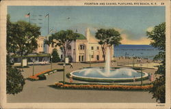 Fountain and Casino at Playland, Rye Beach