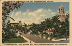 Sunrise Ave, Looking toward Palm Beach Biltmore Hotel