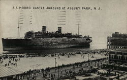 S. S. Morro Castly Aground at Asbury Park, NJ