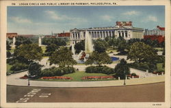 Logan Circle and Public Library on Parkway