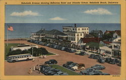 Rehoboth Avenue showing Belhaven Hotel and Atlantic Ocean