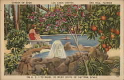 Garden of Eden, Log Cabin Groves Postcard