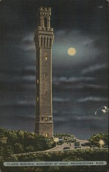 Pilgrim Memorial Monument at Night