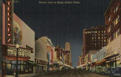 Theatre Row at Night - Elm Street Looking East