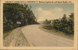 Highway Scene on U.S. Highway 71