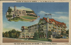 The Elms Hotel and Hall of Waters Postcard