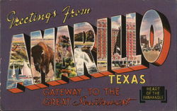 Greetings from Amarillo, Texas Postcard