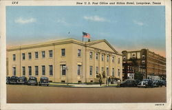 U.S. Post Office and Hilton Hotel Postcard
