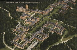 Duke University - Aerial View Postcard