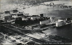 Duluth's Shipping Harbor, With Docks And Elevators Postcard
