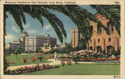 Municipal Auditorium Park Grounds Postcard