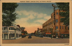 Fremont Street Looking East Postcard