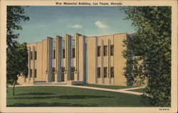 War Memorial Building Postcard