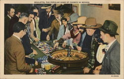Roulette, The Popular Game of Chance in Nevada Postcard