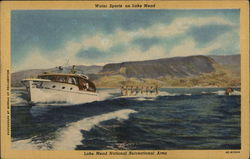 Water Sports on Lake Mead Postcard