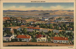 Aerial View of Boulder City, Nevada Postcard