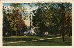 Battell Park and Soldiers Monument