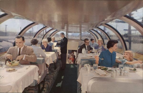 Astra Dome Dining Car Trains, Railroad