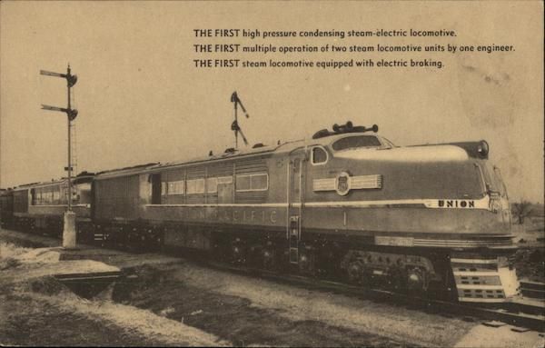 The first high pressure condensing steam-electric locomotive.