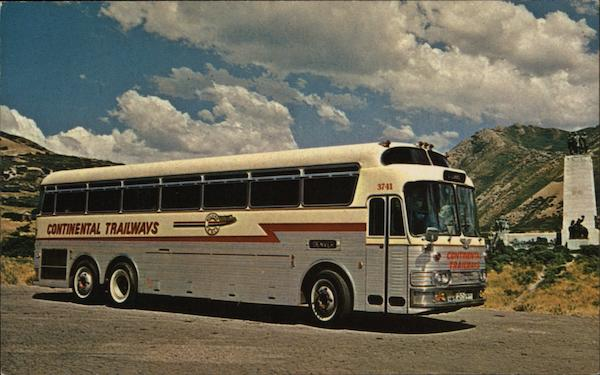 Continental Trailways Silver Eagle Buses