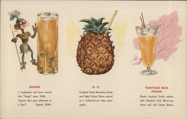 Tropical Cocktails - Don the Beachcomber Advertising