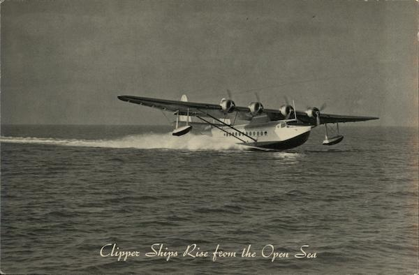 Clipper Ships Rise from the Open Sea Aircraft