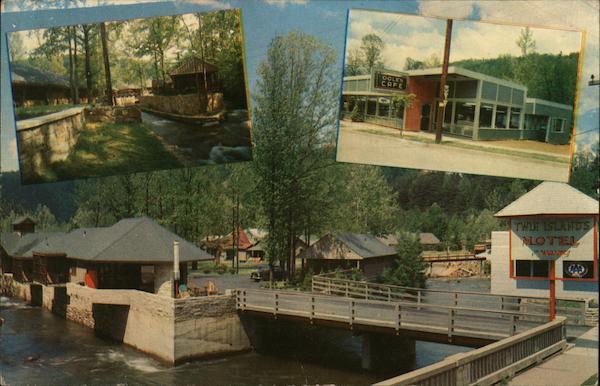 Twin Islands Motel and Restaurant Gatlinburg, TN Postcard