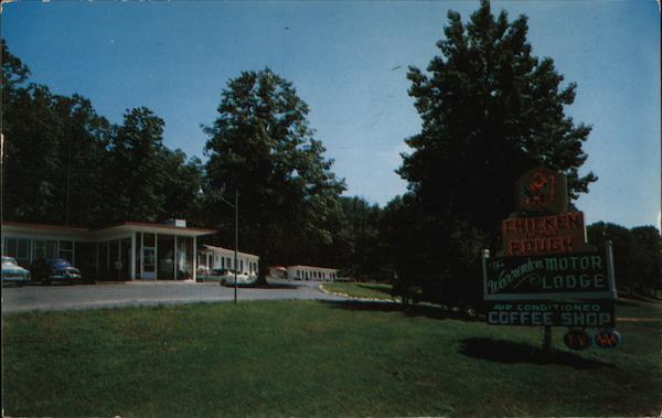 Warrenton Motor Lodge Postcard