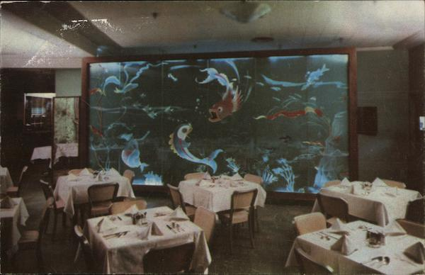Beck's Restaurant - Submarine Etched Glass Mural Philadelphia Pennsylvania