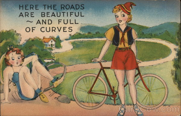 Here the Roads Are Beautiful ~ And Full of Curves Bicycles