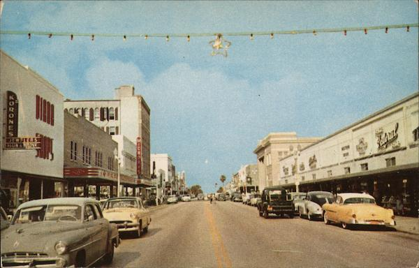 Cleveland Street - Business Section, Looking West Clearwater Florida