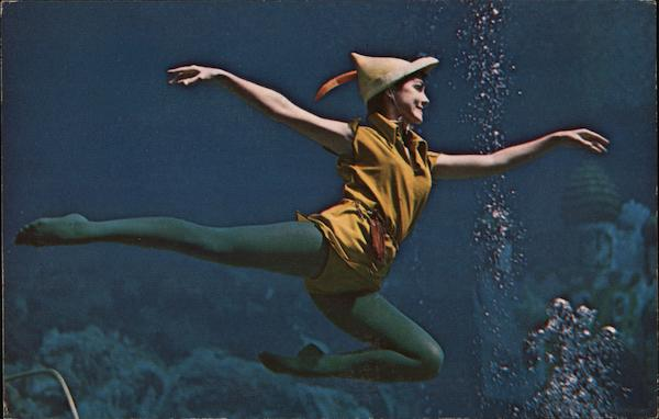 Peter Pan Flies Through the Water With the Greatest of Ease