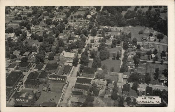 Aerial View of Town Manassas Virginia