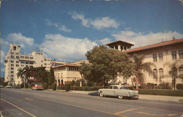 Massachusetts Avenue - New Florida Hotel, Harry S. Mayhall Auditorium and City Hall Lakeland
