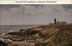 Beavertail Point Lighthouse--Jamestown, Rhode Island Postcard