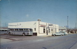 Greyhound Bus Station Postcard