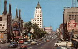 Hollywood Boulevard Looking East from Hollywood Roosevelt Hotel