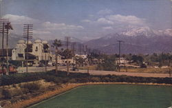 Santa Fe Depot , San Jacinto Mountains in background