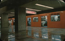 Subway System Postcard