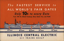 Illinois Central Electric Trains Postcard