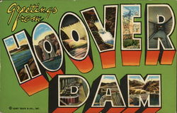 Greetings from Hoover Dam Postcard