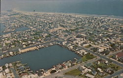 Aerial View, Stone Harbor Looking North, Shelter Haven Basin in Foreground