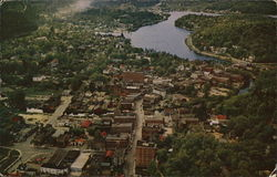 Aerial View of Saranac Lake, New York