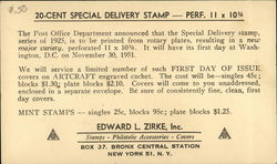 Edward L. Zirke Stamps, Philatelic