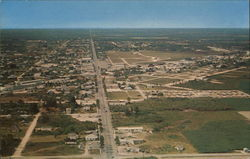 Aerial View of Homestead and the highway that leads to Key West, Fla.