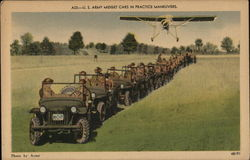 A23:-U.S. Army Midget Cars in Practice Maneuvers
