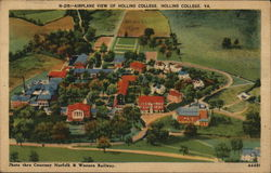 N-215-Airplane View of Hollins College. Hollins College, VA.