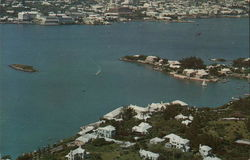 Aerial View of Paget Showing City of Hamilton, Bermuda.